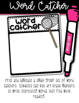 Primary Guided Reading Word Work Tools