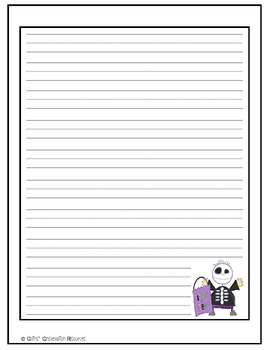 Primary Halloween Handwriting Paper Combo