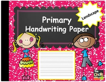 Primary Handwriting Paper - Landscape