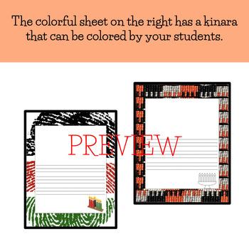 Primary Handwriting Paper: Kwanzaa Theme