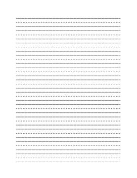 Primary Handwriting Paper Story