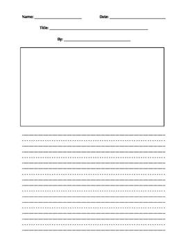 Primary Handwriting Paper Story Version B