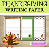 Primary Writing Paper: Thanksgiving - With Picture Boxes & Without