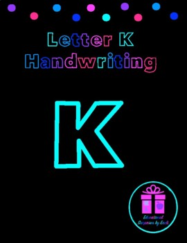 Primary Handwriting Practice - Letter K
