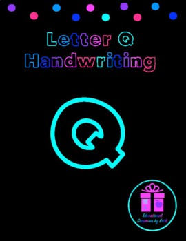 Primary Handwriting Practice - Letter Q