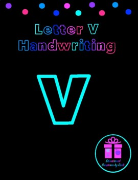 Primary Handwriting Practice - Letter V