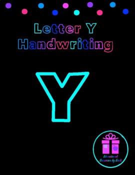 Primary Handwriting Practice - Letter Y
