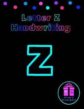Primary Handwriting Practice - Letter Z