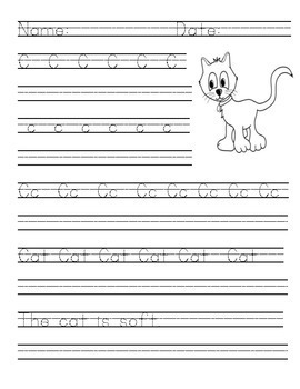 Primary Handwriting Practice - Letters A-Z Bundle