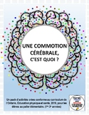 Primary Health in French CONCUSSION SAFETY (ON curriculum 2019) activity packet