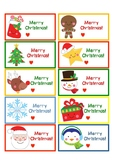 Primary Holiday Gift Tags