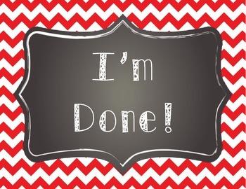 I'm Done Board