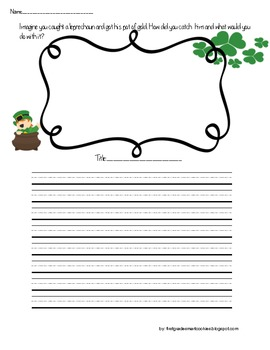 Primary If I Caught The Leprechaun Writing Prompt