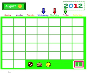 Primary Interactive Calendar Time