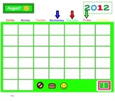 Primary Interactive Calendar Time