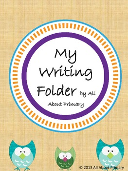 Primary Interactive Writing Folder - Owl Theme!