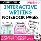 Primary Interactive Writing Notebook Pages
