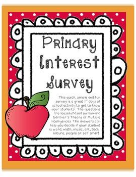 Primary Interest Survey