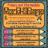 Editable Spelling Practice and Test Generator-Primary and Intermediate
