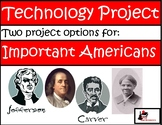 2 in 1 - Primary Internet Research/Technology Project -  Amazing Americans