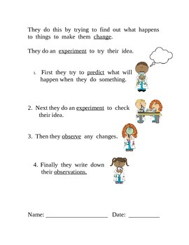 Primary Introduction to Science and the Scientific Process