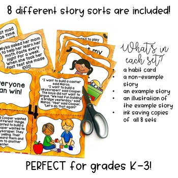 Leadership Habits: 8 Story Sorts for Primary Classrooms