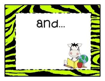 Primary Learning Goals, Jungle Safari, Focus Board, Kindergarten