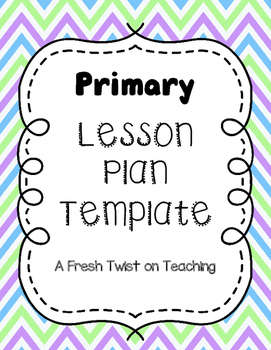 Primary Lesson Plan Template