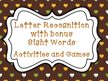 Primary Letter Recognition and Sight Word Power Pack