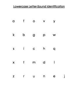 Primary Letter-Sound Identification