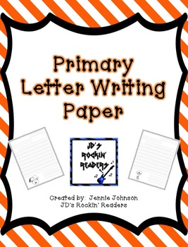 primary school writing paper
