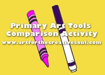 Primary Level Art Tools Comparison Activity