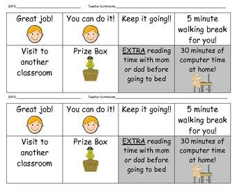 Primary Level Behavior Charts