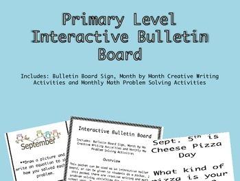 Primary Level Interactive Bulletin Board