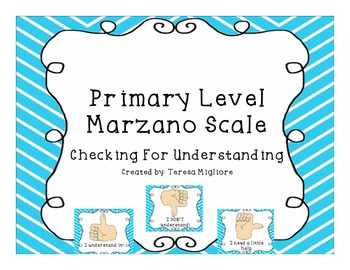 Primary Level Marzano Scale {Freebie}