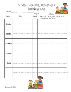 Primary Level Reading Logs with Skills and Strategies