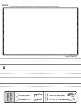 Primary Lined Journal Writing Paper *with Writer's Checklist!*