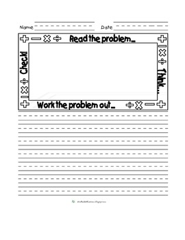Primary Lined Math Journal Paper