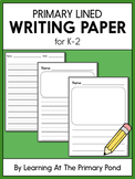 Primary Lined Paper for Writing or Handwriting