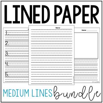 Medium Lined Paper Bundle