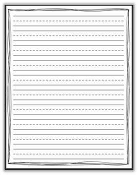 Primary Lined Paper with Decorative Squiggly Lines