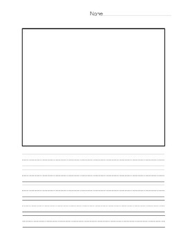 Primary Lined Paper with Writing Rubric
