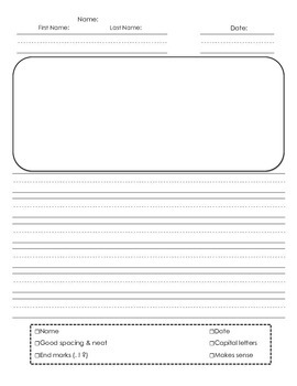 Primary Lined Prompt Writing Paper
