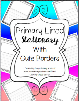 Primary Lined Stationary or Journal Writing Papers