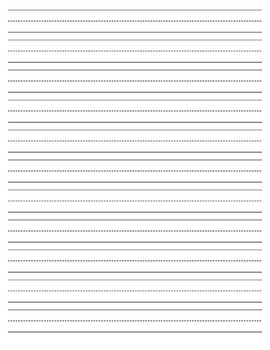 Primary Lined Writing Paper by April Eckert | Teachers Pay ...