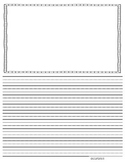 Primary Lined Writing Paper - 5 Sizes, 2 Formats