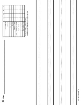 Primary Lined Journal Writing Paper *with and without built-in rubric!*