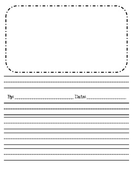 primary lined writing paper with doted lines