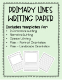Primary Lines Writing Paper (Informative, Opinion, Narrative, and Multi-Purpose)