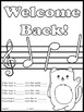 Back to School Coloring Listening Glyph